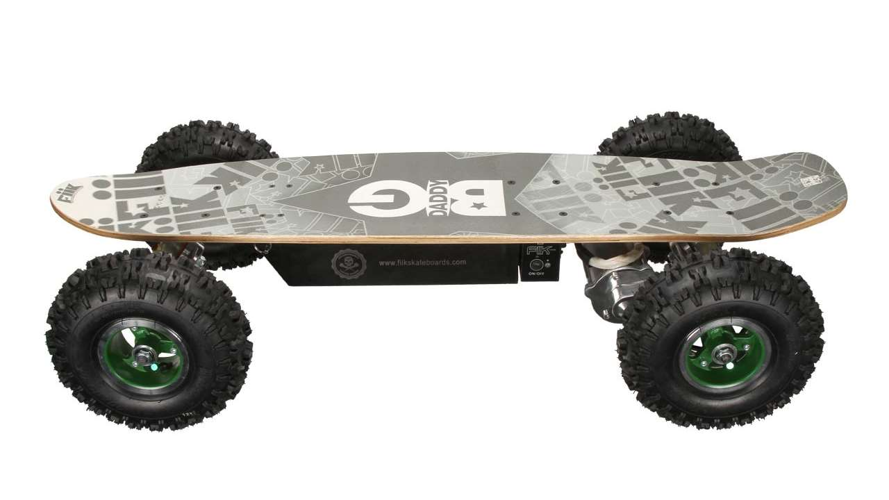 skateboards by Fiik electric with a white background