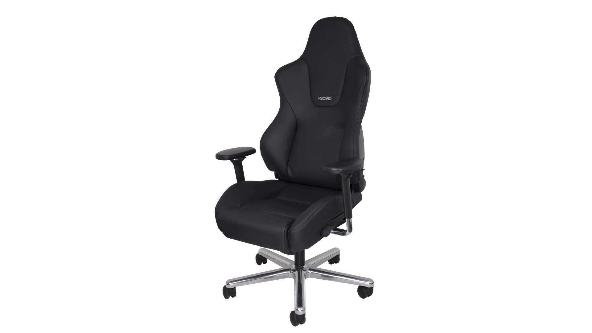 Recaro office chairs a black office chair with a white background