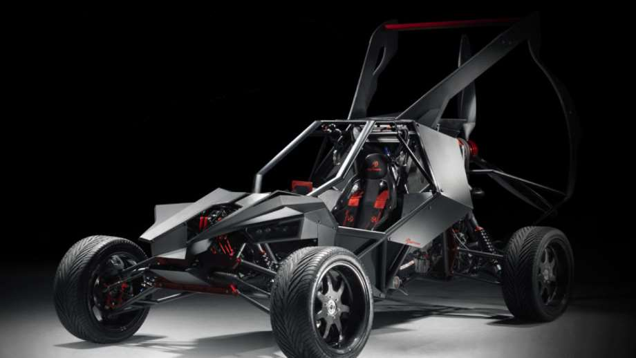 light sport aircraft by SkyRunner with a black background