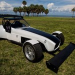 kit cars by stalker a white and black race car in a field