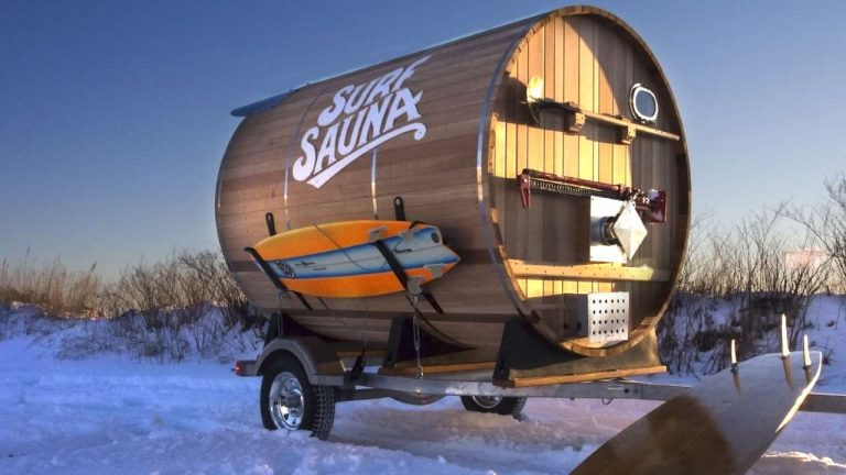 saunas by surf sauna a sauna on the snow with surfboards