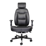 office chairs by iron horse seating a black chair with white background