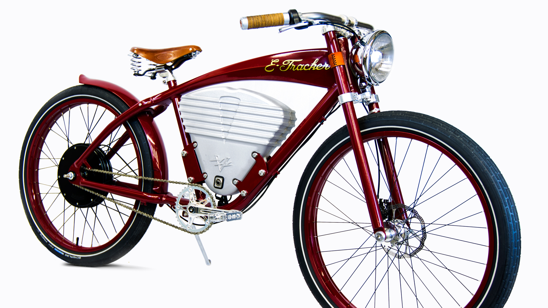 electric bikes by Vintage Electric Bikes a red bike with a white background