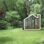 bunkie man cave in a green field