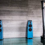 audio systems by Meridian blue speakers