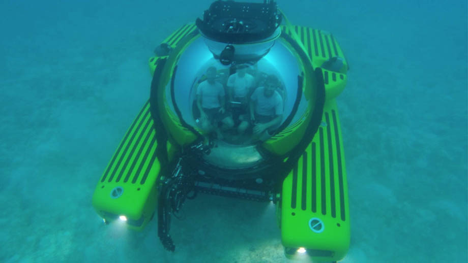 submarines by Triton underwater with people