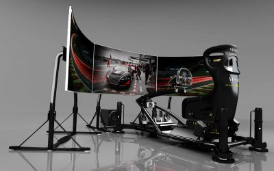 racing simulator by Vesaro with a grey background