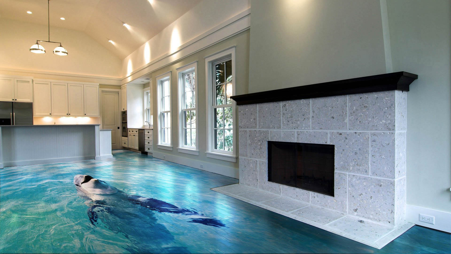 flooring by Imperial Interiors 3d floor with a dolphin swimming