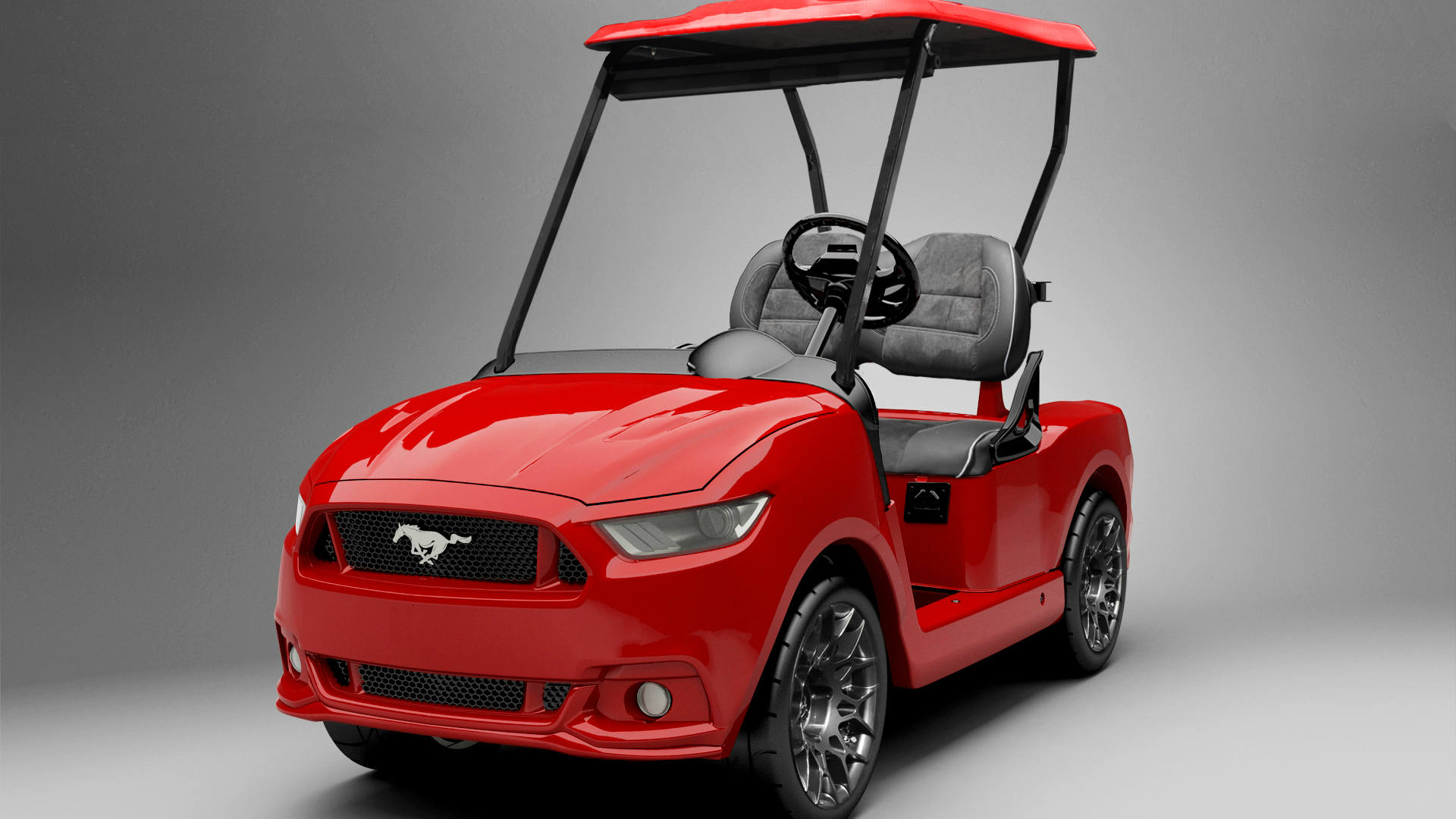 Golf Cars by CaddyShack a red golf cart
