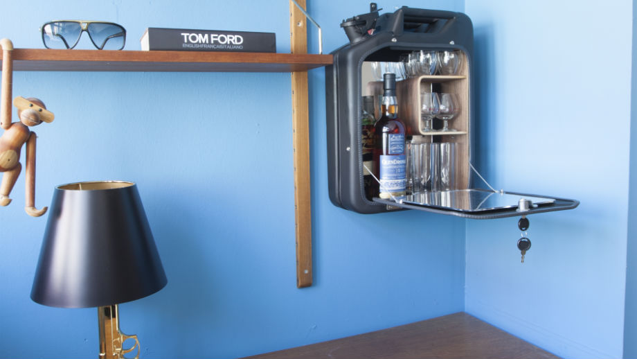 bar cabinets by One Copenhagen on the wall