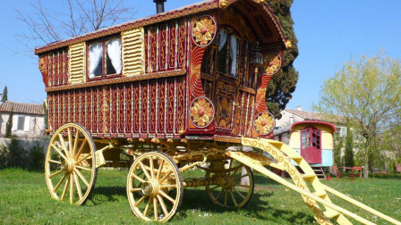 Hearst Family Gypsy Wagon Circa 1902