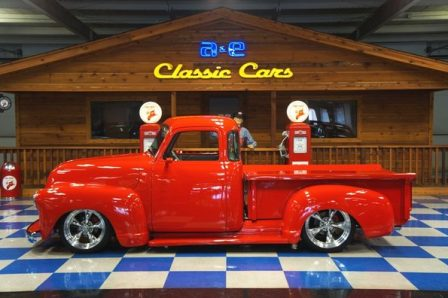 1953 Fire Engine Red GMC 5 Window Pickup Truck