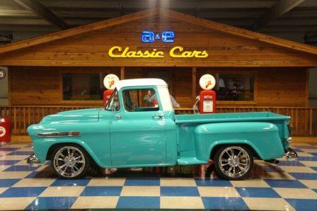 1959 Chevrolet Apache 3100 – Turquiose / White