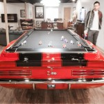 pool tables by Car Pool Tables red car pool table with balls and man in living area