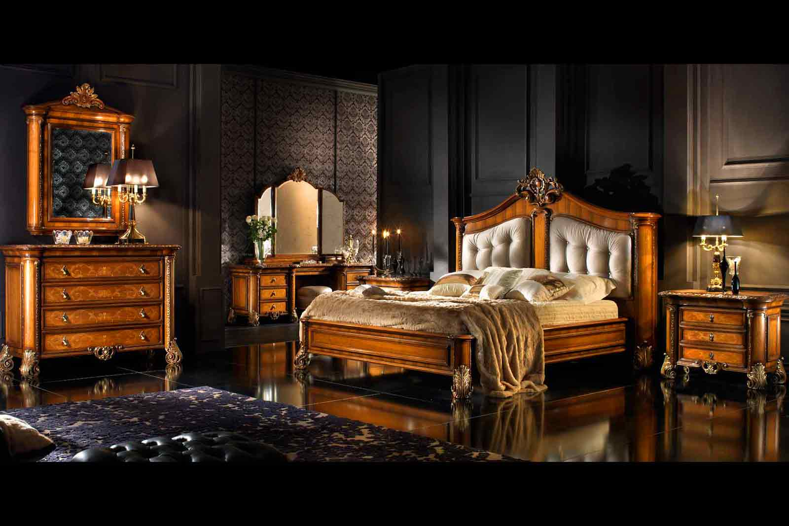 Tesalia Luxury Furniture an oak bedroom set