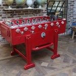 game tables by Debuchy Foosball Tables a red foosball table in a living area