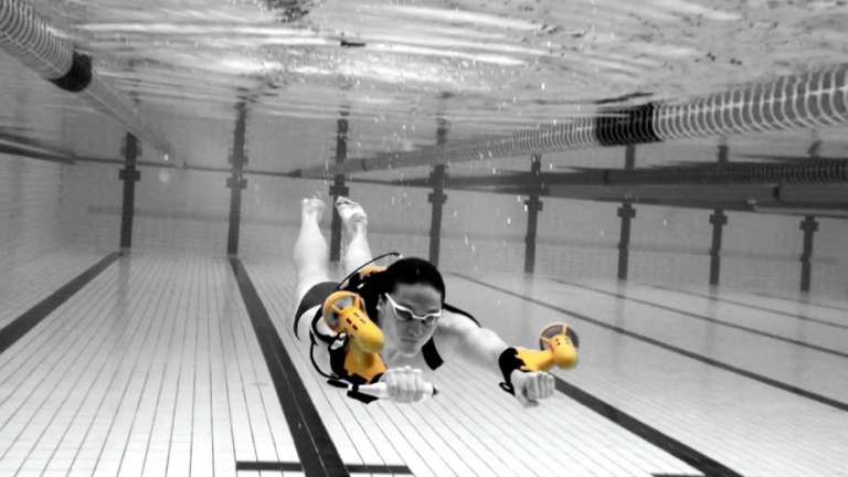 jet pack by SCPMI a woman swimming in a pool