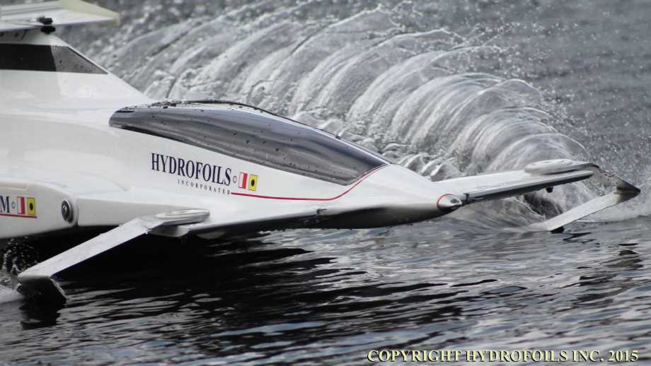 Hydrofoil by hydrofoils inc show on a body of water