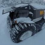 Sherp ATV in the snow