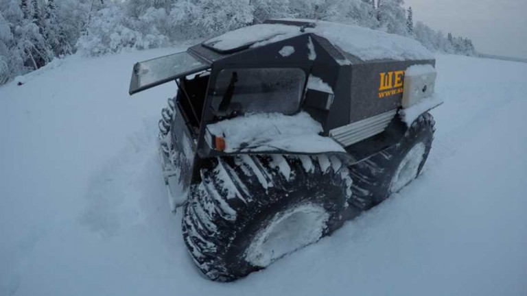Sherp ATV in the snow