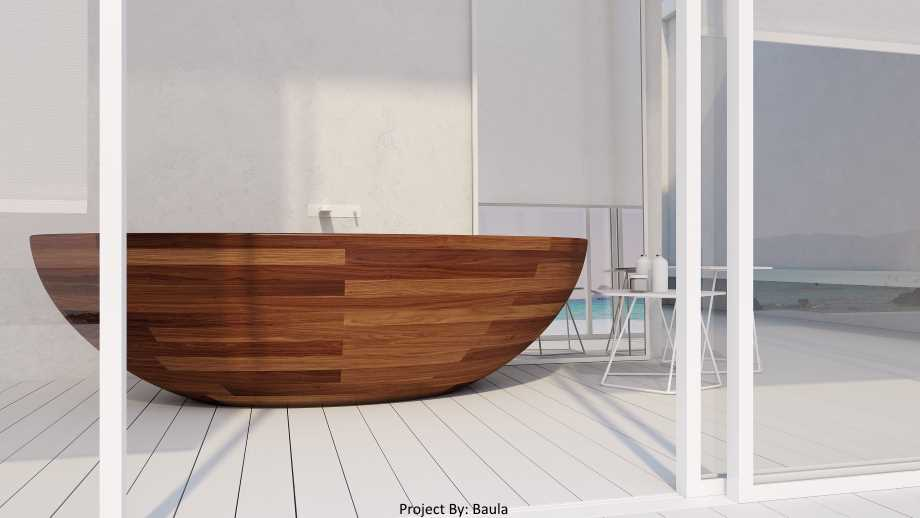 unique wood bathtubs by unique woo design a bathtub in a glass room