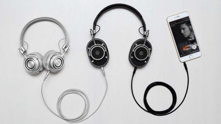 headphones by Master & Dynamic on a grey background