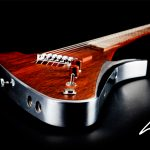 handcrafted guitars by Lava drop a sleek guitar with black background