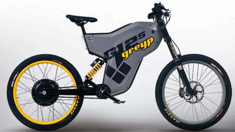 electric bikes by GreyP featuring a grey and yellow bike with a white background