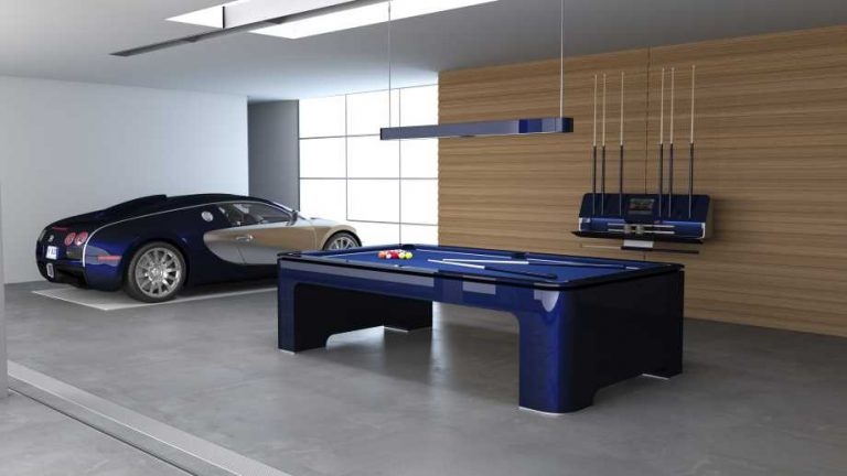 luxury pool tables a blue pool table with a bugatti