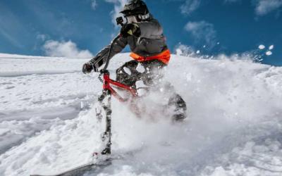 winter toys hillstrike skiing down a snowy mountain