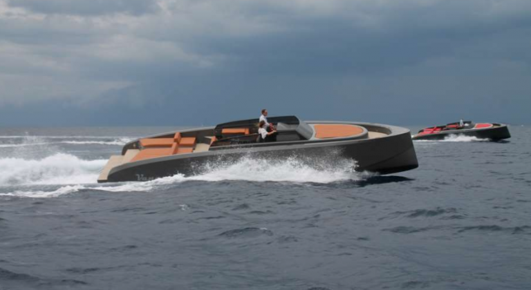 yachts by vanquish yachts racing another yacht in the ocean