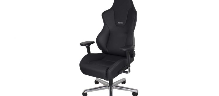 office chair by Recaro a black chair with white background