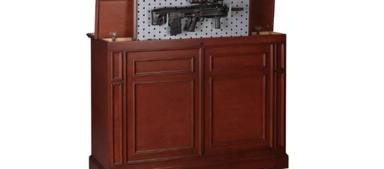 gun concealer tactical walls a discreet cabinet that hides and secures your weaponry