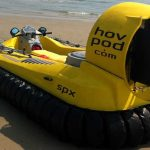 Hov Pod Hovercrafts on the beach