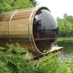 saunas by dundalk in he woods on a lake
