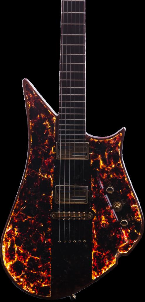 Lava Drops Black Amber Drop Guitar