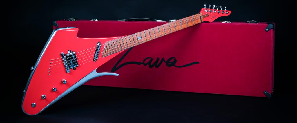 Lava Drops Rose Aluminum Drop X Guitar